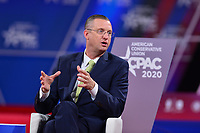 National Harbor, MD - February 27, 2020: U.S. Rep. Doug Collins speaks during CPAC 2020 hosted by the American Conservative Union at the Gaylord National Resort at National Harbor, MD February 27, 2020.  (Photo by Don Baxter/Media Images International)