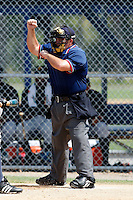 July 13, 2009:  Home plate umpire Ramon Hernandez during a game at Tiger Town in Lakeland, FL.  Photo By Mike Janes/Four Seam Images
