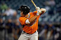 Keenan Bell (36) of Episcopal School of Jacksonville in Jacksonville, Florida playing for the Baltimore Orioles scout team during the East Coast Pro Showcase on July 29, 2015 at George M. Steinbrenner Field in Tampa, Florida.  (Mike Janes/Four Seam Images)