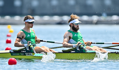 Olympic gold medalists Fintan McCarthy, left, and Paul O'Donovan. Their club, Skibbereen Rowing Club, has benefited for a FLAG grant towards a new safety boat