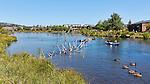 Floating the Deschutes River through downtown Bend, Oregon