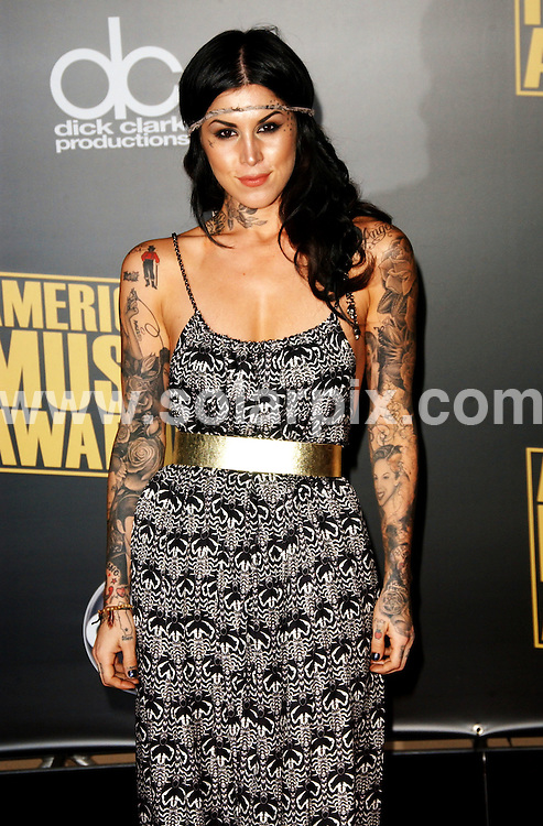 **ALL ROUND PICTURES FROM SOLARPIX.COM**.**SYNDICATION RIGHTS FOR UK, SPAIN, PORTUGAL, AUSTRALIA, S.AFRICA & DUBAI (U.A.E) ONLY**.The 2008 American Music Awards  Arrivals at the  Nokia Theatre in Los Angeles, California in the  USA. .This pic:Kat Von D..JOB REF:7989-PHZ/Albert L. Ortega     DATE:23-11-08 .**MUST CREDIT SOLARPIX.COM OR DOUBLE FEE WILL BE CHARGED* *UNDER NO CIRCUMSTANCES IS THIS IMAGE TO BE REPRODUCED FOR ANY ONLINE EDITION WITHOUT PRIOR PERMISSION*