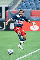 FOXBOROUGH, MA - APRIL 17: Colby Quinones #41 of New England Revolution II during a game between Richmond Kickers and Revolution II at Gillette Stadium on April 17, 2021 in Foxborough, Massachusetts.