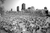Chicago, IL. - Sunday, July 5, 2015: USWNT vs Japan 2015 FIFA World Cup Final viewing party at Lincoln Park.