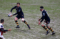 Photo: Richard Lane/Richard Lane Photography. Wasps v Ulster Rugby.  European Rugby Champions Cup. 21/01/2018. Wasps' Danny Cipriani attacks with Nizaam Carr in support.
