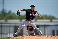 Jupiter Hammerheads starting pitcher Braxton Garrett (22) during a Florida State League game against the Dunedin Blue Jays on May 16, 2019 at Jack Russell Memorial Stadium in Clearwater, Florida.  Dunedin defeated Jupiter 1-0.  (Mike Janes/Four Seam Images)