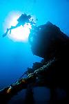 Diver on Aquarius Habitat, Key Largo, Florida