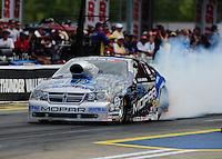 Jun. 17, 2011; Bristol, TN, USA: NHRA pro stock driver Allen Johnson during qualifying for the Thunder Valley Nationals at Bristol Dragway. Mandatory Credit: Mark J. Rebilas-