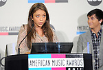 Sarah Hyland and Mitchell Musso at The 2011 American Music Awards Nomination Announcements  held at JW Marriott Los Angeles at L.A. LIVE Gold Ballroom Salon 3 in Los Angeles, California on October 11,2011                                                                               © 2011 DVS / Hollywood Press Agency