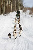 Ed Iten on Trail Leaving Kaltag AK WE 2005 Iditarod Winter