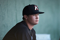 Kannapolis Intimidators relief pitcher Wyatt Burns (11) during the game against the Augusta GreenJackets at Kannapolis Intimidators Stadium on June 21, 2019 in Kannapolis, North Carolina. The Intimidators defeated the GreenJackets 6-1. (Brian Westerholt/Four Seam Images)
