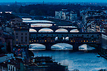 The medieval Ponte Vecchio spans the Arno River, Florence, Tuscany, Italy<br /> <br /> Canon EOS-1Ds Mark II, EF70-200mm f/4 lens + 1.4x, f/14 for 1.6 seconds, ISO 100