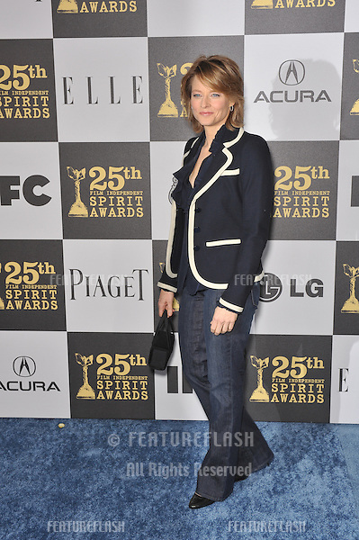 Jodie Foster at the 25th Anniversary Film Independent Spirit Awards at the L.A. Live Event Deck in downtown Los Angeles..March 5, 2010  Los Angeles, CA.Picture: Paul Smith / Featureflash