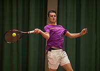 The Hague, The Netherlands, March 17, 2017,  De Rhijenhof, NOJK 14/18 years, Deney Wasserman (NED)<br /> Photo: Tennisimages/Henk Koster