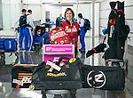 Caroline Bisson, Sochi 2014.<br /> Team Canada arrives at the airport in Sochi for the Sochi 2014 Paralympic Winter // Équipe Canada arrive à l'aéroport de Sotchi pour Sochi 2014 Jeux paralympiques d'hiver. 03/03/2014.
