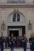 Paris (75)- Palais de l'Elysee- Ceremonie d installation de M. Emmanuel MACRON, PrÈsident de la RÈpublique, le dimanche 14 mai , le personnel de l'Elysee assiste a la cÈrÈmonie