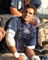 July 17, 2003:  Ryan Garko of the Mahoning Valley Scrappers, Class-A affiliate of the Cleveland Indians, during a NY-Penn League game at Dwyer Stadium in Batavia, NY.  Photo by:  Mike Janes/Four Seam Images