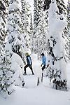 Snow Shoeing at Chief Joseph Pass in Montana
