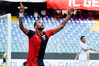 esultanza gol Hernani Azevedo Júnior <br /> during the Italy cup football match between Genoa CFC and Perugia at Stadio Marassi in Genova (Italy), August 13th, 2021. Photo Image Sport / Insidefoto