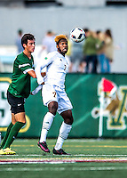 24 September 2016: University of Vermont Catamount Forward Brian Wright, a Senior from Ajax, Ontario in action against the Dartmouth College Big Green at Virtue Field in Burlington, Vermont. The teams played to an overtime 1-1 tie in front of an Alumni Weekend crowd of 1,710 fans. Mandatory Credit: Ed Wolfstein Photo *** RAW (NEF) Image File Available ***