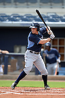 Tampa Bay Rays second baseman Riley Unroe (1) during an Instructional League game against the Minnesota Twins on September 16, 2014 at Charlotte Sports Park in Port Charlotte, Florida.  (Mike Janes/Four Seam Images)
