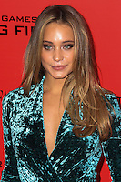 """NEW YORK, NY - NOVEMBER 20: Hannah Davis at the New York Premiere Of Lionsgate's """"The Hunger Games: Catching Fire"""" held at AMC Lincoln Square Theater on November 20, 2013 in New York City. (Photo by Jeffery Duran/Celebrity Monitor)"""