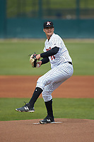 Kannapolis Intimidators starting pitcher Blake Battenfield (24) in action against the Lakewood BlueClaws at Kannapolis Intimidators Stadium on April 8, 2018 in Kannapolis, North Carolina.  The Intimidators defeated the BlueClaws 4-3 in game two of a double-header.  (Brian Westerholt/Four Seam Images)
