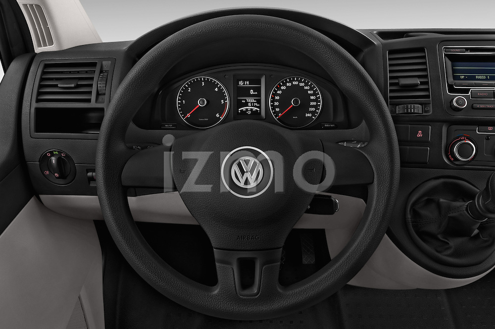 Car pictures of steering wheel view of a 2015 Volkswagen Transporter 2.0 Tdi Bvm6 4 Door Cargo Van Steering Wheel
