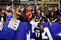 Carson, CA - November 13, 2016: The U.S. Women's National team go to defeat Romania 5-0 in an international friendly game at StubHub Center.