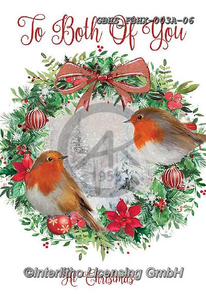 John, CHRISTMAS LANDSCAPES, WEIHNACHTEN WINTERLANDSCHAFTEN, NAVIDAD PAISAJES DE INVIERNO,red robin, wreath,  paintings+++++,GBHSFBHX-003A-06,#xl#