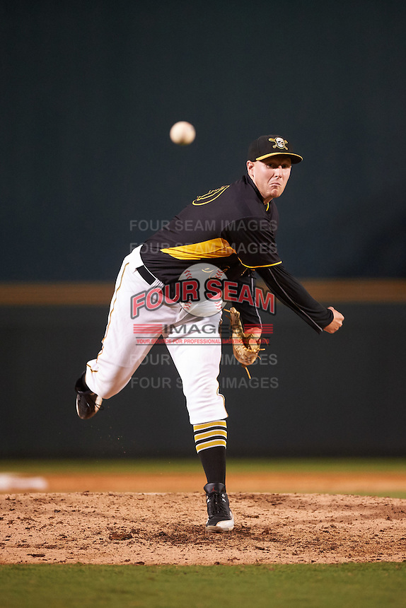 Bradenton Marauders relief pitcher Henry Hirsch (50) during a game against the Palm Beach Cardinals on August 8, 2016 at McKechnie Field in Bradenton, Florida.  Bradenton defeated Palm Beach 5-4.  (Mike Janes/Four Seam Images)