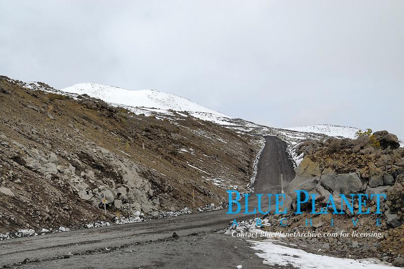 Access road, Mauna Kea volcano, Highest point in Hawaii, 13796', The Big Island of Hawaii