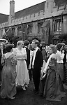 The Morning after. Commem Balls at Oxford. Magdalen College students in the breakfast queue afte the end of year May Ball. At Oxford these are called Commem Balls and take place in June but are universally know as the May Ball. The English Season published by Pavilon Books 1987