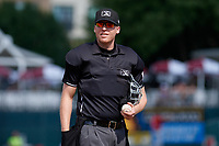 Umpire Andy Stukel during a Texas League game between the Springfield Cardinals and Frisco RoughRiders on May 5, 2019 at Dr Pepper Ballpark in Frisco, Texas.  (Mike Augustin/Four Seam Images)