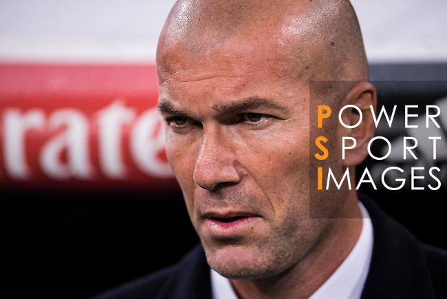 Coach Zinedine Zidane of Real Madrid prior to the Copa del Rey Round of 16 match between Real Madrid and Sevilla FC at the Santiago Bernabeu Stadium on 04 January 2017 in Madrid, Spain. Photo by Diego Gonzalez Souto / Power Sport Images
