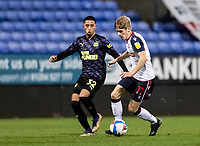 Bolton Wanderers' Ronan Darcy competing with Newcastle United U21's Rodrigo Vilca (left) <br /> <br /> Photographer Andrew Kearns/CameraSport<br /> <br /> EFL Papa John's Trophy - Northern Section - Group C - Bolton Wanderers v Newcastle United U21 - Tuesday 17th November 2020 - University of Bolton Stadium - Bolton<br />  <br /> World Copyright © 2020 CameraSport. All rights reserved. 43 Linden Ave. Countesthorpe. Leicester. England. LE8 5PG - Tel: +44 (0) 116 277 4147 - admin@camerasport.com - www.camerasport.com