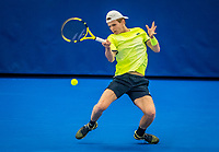 Amstelveen, Netherlands, 18  December, 2020, National Tennis Center, NTC, NK Indoor, National  Indoor Tennis Championships,   : Jesper de Jong (NED) <br /> Photo: Henk Koster/tennisimages.com
