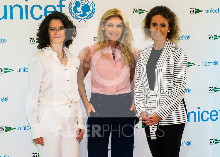 Patricia Rato during the delivery of a check of El Corte Ingles to Unicef worth 113000 euros at Corte Ingles in Madrid, Spain. October 26, 2016. (ALTERPHOTOS/Rodrigo Jimenez)