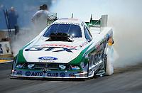 Jul. 31, 2011; Sonoma, CA, USA; NHRA funny car driver Mike Neff during the Fram Autolite Nationals at Infineon Raceway. Mandatory Credit: Mark J. Rebilas-