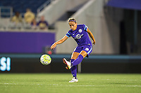 Orlando, Florida - Sunday, May 14, 2016: Orlando Pride defender Monica Hickman Alves (21) during a National Women's Soccer League match between Orlando Pride and New York Flash at Camping World Stadium.