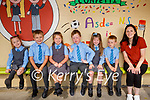 Asdee NS: Mrs Collins with her junior infants class at Asdee NS on their first day at school.