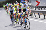 Action from the pack with Orica GreenEdge leading the charge during the closing kilometres of Stage 7 of the 2015 Presidential Tour of Turkey running 166km from Selcuk to Izmir. 2nd May 2015.<br /> Photo: Tour of Turkey/Mario Stiehl/www.newsfile.ie