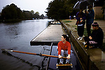 'OXFORD UNIVERSITY' 1995, FRESHERS LEARNING TO ROW ON THE CHERWELL WHILE THE REGATTA IS ON, 1995