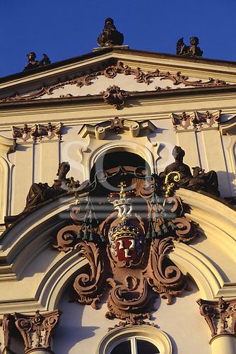 Prague, Czech Republic; detail of the Archbishop's Palace in the castle precinct.