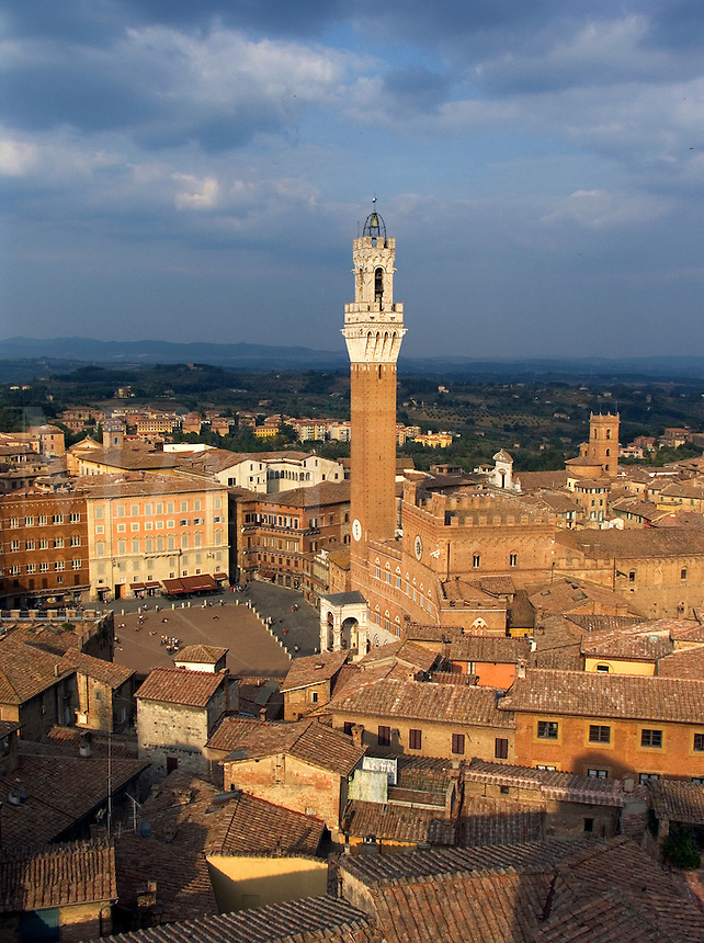 Rooftop view of Siena, Italy