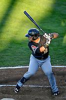 Jose Herrera (12) of the Missoula Osprey at bat against the Ogden Raptors in Pioneer League action at Lindquist Field on July 14, 2016 in Ogden, Utah. Ogden defeated Missoula 10-4. (Stephen Smith/Four Seam Images)