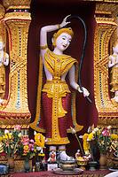 Asie/Thaïlande/Env de Chiang Mai/Parc National de Doi Suthep-Doi Pui : Sanctuaire du Wat Phra That Doi Suthep dans la montagne Doi Suthep (Fondé en 1383 pour abriter de précieuses reliques)