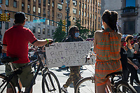 NEW YORK, NEW YORK - June 7: Protesters march alongside Central Park on June 7, 2020 in New York, NY. Protesters continue to take to the streets across the United States and other parts of the world after the murder of George Floyd by a white police officer Derek Chauvin. The protests attempt to give voice to the need for African American human rights. (Photo by Pablo Monsalve / VIEWpress )