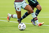 HOUSTON, TX - JUNE 13: Jessica Silva #10 of Portugal dribbles the ball during a game between Nigeria and Portugal at BBVA Stadium on June 13, 2021 in Houston, Texas.