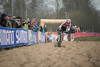 Mathieu Van der Poel (NED/Beobank-Corendon) almost capsizing in the sand<br /> <br /> 2016 CX UCI World Cup Zeven (DEU)